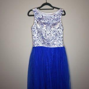 Grace Karin Sleeveless Embroidered Formal Dress